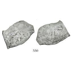 Mexico City, Mexico, cob 4 reales, (1)713(J), rare.