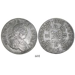 France (La Rochelle mint), ecu, Louis XV, 1725-H.