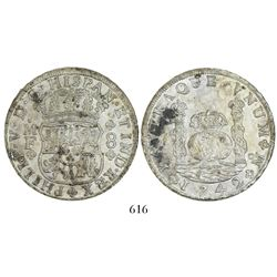 Mexico City, Mexico, pillar 8 reales, Philip V, 1742/1MF.