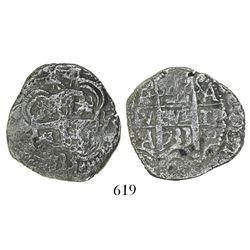 Potosi, cob 4 reales, 1733YA, very rare.