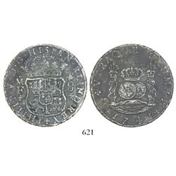 Mexico City, Mexico, pillar 8 reales, Philip V, 1741MF, rare provenance.