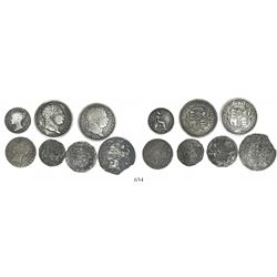Lot of 7 British silver minors of George III through Victoria.