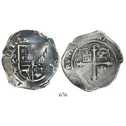 Mexico City, Mexico, cob 8 reales, (16)11F, rare.