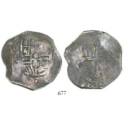 Mexico City, Mexico, cob 8 reales, 1640/39(P), with small chopmarks as from circulation in the Orien