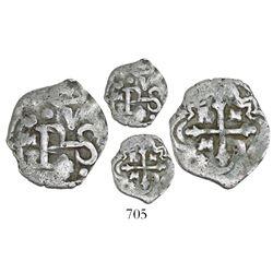 Mexico City, Mexico, cob 1/2 real, Philip IV, assayer P, Sedwick Plate Coin.