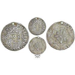 Mexico City, Mexico, cob 1/2 real Royal, 1721J.