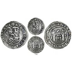 Lima, Peru, 2 reales, Philip II, assayer R (Rincon) to left, motto as PL-VSV-L, legends split as HIS