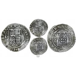 Lima, Peru, 2 reales, Philip II, assayer R (Rincon) to left, large R, motto as PL-VSVL-T, legends sp