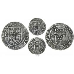 Lima, Peru, 2 reales, Philip II, assayer R (Rincon) to left, large R, motto as PL-VSV-L, legends spl