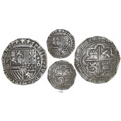Lima, Peru, cob 8 reales, Philip II, assayer Diego de la Torre, P-8 to left, *-oD to right.