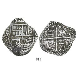 Potosi, Bolivia, cob 8 reales, (16)29T, rotated legend (date at 3 o'clock), denomination o-VIII, hea