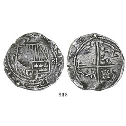 Potosi, Bolivia, cob 8 reales, 1630T, ex-Sellschopp.