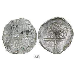 Potosi, Bolivia, cob 8 reales, (1)642(FR), rare (missing in Sellschopp).
