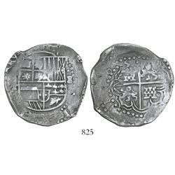 Potosi, Bolivia, cob 8 reales, (1)6(4)5T.
