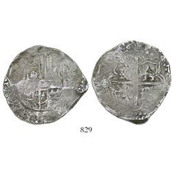 Potosi, Bolivia, cob 8 reales, (16)46V, rare.