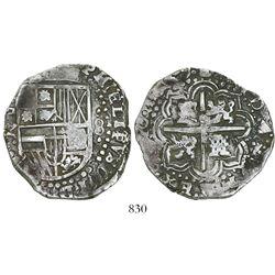 Potosi, Bolivia, cob 8 reales, 1649Z, no countermark (rare).