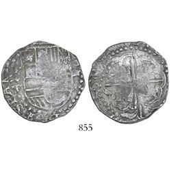 Potosi, Bolivia, cob 4 reales, 1622T, unique error with penultimate digit of date sideways (like an