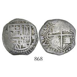 Potosi, Bolivia, cob 2 reales, 1619(?)(T).