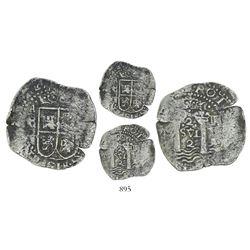 Potosi, Bolivia, cob 2 reales, (1652)E Transitional, McLean Type I, rare.