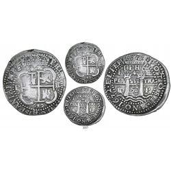 Potosi, Bolivia, cob 8 reales Royal, 1652E post-transitional (Transitional Type VIII/B), unique erro