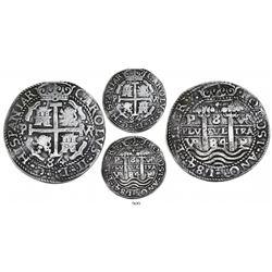Potosi, Bolivia, cob 8 reales Royal, 1684VR, ex-Americas collection.