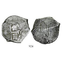 Potosi, Bolivia, cob 8 reales, 1713Y.