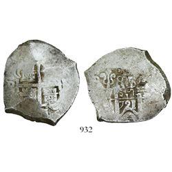 Potosi, Bolivia, cob 8 reales, 1721Y.
