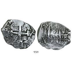 Potosi, Bolivia, cob 8 reales, 1771/0V-Y-V.