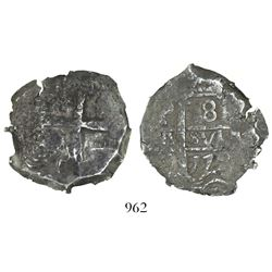 Potosi, Bolivia, cob 8 reales, 1772(V-Y), encapsulated NGC VF 35.