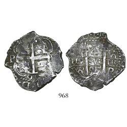 Potosi, Bolivia, cob 4 reales, 1695VR.