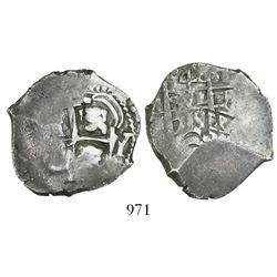 Potosi, Bolivia, cob 4 reales, 1719Y, rare (missing in Sellschopp and Karon).