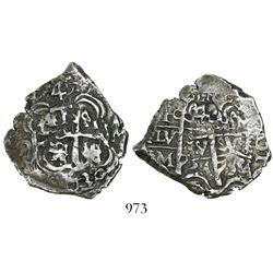 Potosi, Bolivia, cob 4 reales, 1730M, rare (missing in Sellschopp).