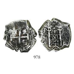 Potosi, Bolivia, cob 4 reales, 1741P.