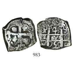 Potosi, Bolivia, cob 4 reales, 1755q.