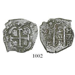 Potosi, Bolivia, cob 2 reales, 1730M.