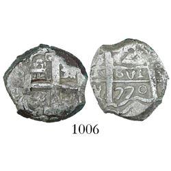 Potosi, Bolivia, cob 2 reales, 1770(V)-Y.