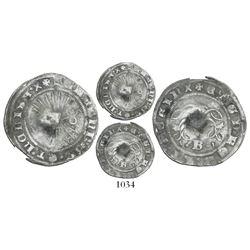 Panama(?), P countermark on a Burgos, Spain, 1/2 real, Ferdinand-Isabel, rare.