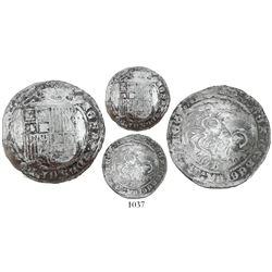 Panama(?), C countermark on a Burgos, Spain, 1 real, Ferdinand-Isabel, rare.