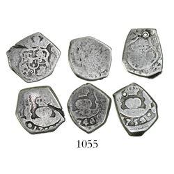 Lot of 3 Guatemala cob 1R: 1746J, 1750J and 1752J.