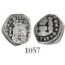 Guatemala, cob 1/2 real, 1737J.