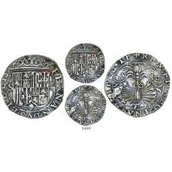 Seville, Spain, 4 reales, Ferdinand-Isabel, assayer Gothic D on reverse.