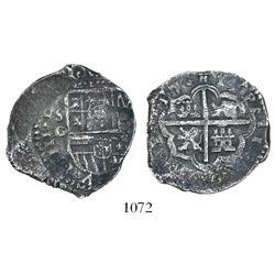 Seville, Spain, cob 4 reales, (16)17G, rare.