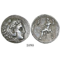 Kingdom of Macedon, AR tetradrachm, Alexander III (the Great), ca. 336-323 BC, struck 300-290 BC.