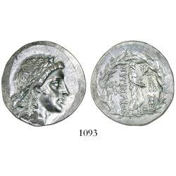 Myrina, Aeolis, AR tetradrachm, 155-145 BC, Stephanophoric type.