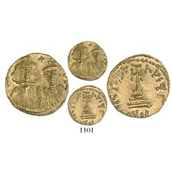 Byzantine Empire (Constantinople mint, 3rd officina), AV solidus, Constans II and Constantine IV (64