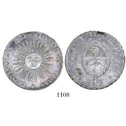 Argentina (River Plate Provinces), Potosi mint, 4 soles, 1815FL, rare.