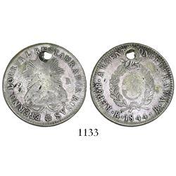 La Rioja, Argentina, 2 reales, 1844B, rare.