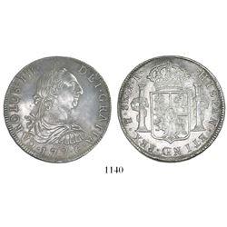Potosi, Bolivia, bust 8 reales, Charles III, 1776PR.