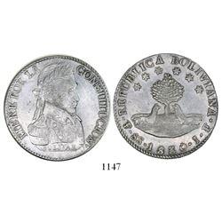 Potosi, Bolivia, 8 soles, 1830JF.