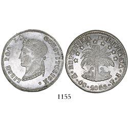 Potosi, Bolivia, 4 soles, 1856FJ.